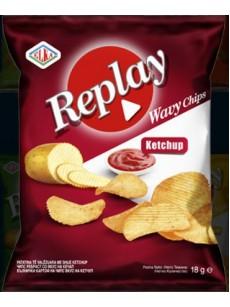Πατατάκια της REPLAY  ketchup  40γρ