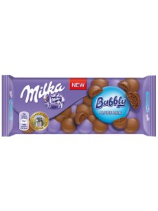 Milka  BUBBLY γαλακτος 100γρ