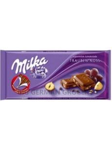 Milka  σταφιδες φουντουκι 100γρ