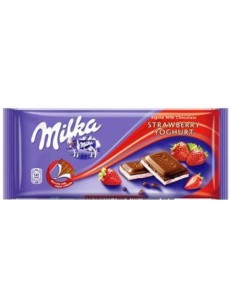 Milka  φράουλα γιαουρτι  100γρ