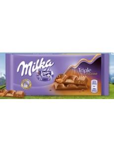 Milka  triple choco al caramel 90γρ