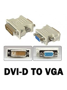 DVI-D Male+15 Pin VGA Female to 24 Converter