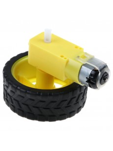 Smart Car Robot Plastic Tires Tyre Wheel + DC 3-6V Gear Motor Set