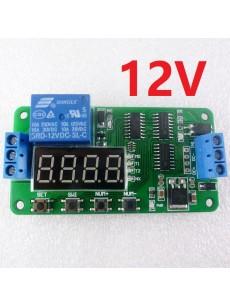 Πλακέτα πολλαπλών  λειτουργιών TIMER DELAY με ρελέ 12V