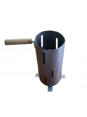 Βοήθημα για να ανάψουν τα κάρβουνα χωρίς πάτο