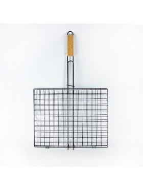 Σχάρα ΚΑΡΩ με ξύλινη λαβή Νο 5 35Χ39εκ INOX
