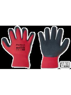 Γάντια αφρολατεχ κόκκινα Νο 10