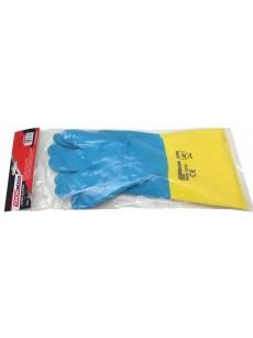 Γάντια σοβατζήδων κιτρινο μπλέ
