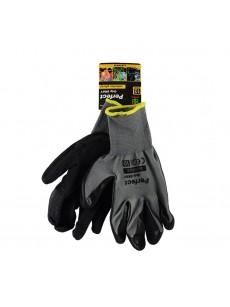 Γάντια λατέξ μαύρο-γκρι