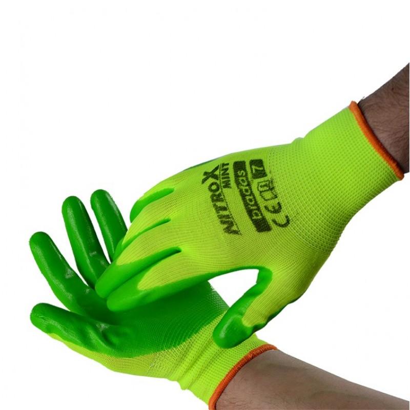 Γάντια νιτριλίου Πορτοκαλί  Νο 10 Bradas