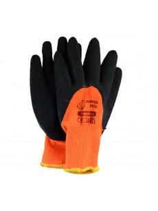 Γάντια λατέξ πλεκτά πορτοκαλί
