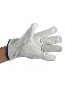 Γάντια λευκά όλο δέρμα