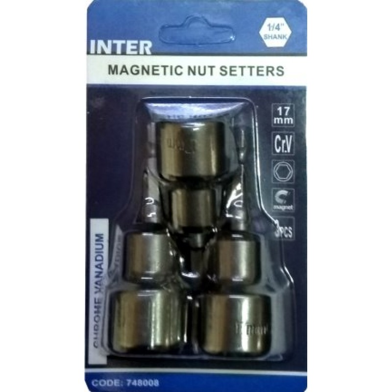 Καρυδάκι μαγνητικά 17mm INTER set 3τεμ