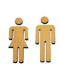 Γράμματα - σύμβολα WC αγόρι  κορίτσι