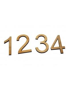 Αριθμοί  από πλεξιγκλάς plexyglass ή οκουμά (3 χιλιοστά ξύλο)