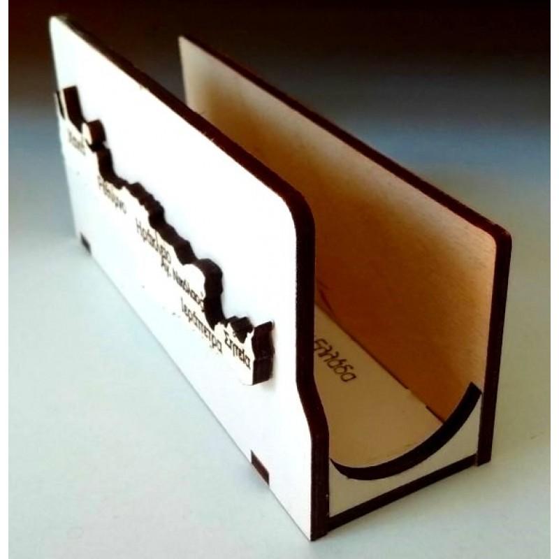 Χαρτοπετσετοθήκη με Κρήτη ξύλινη