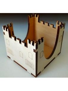 Ξύλινο κάστρο για χαρτάκια σημειώσεων